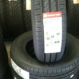 All various sizes of tyres