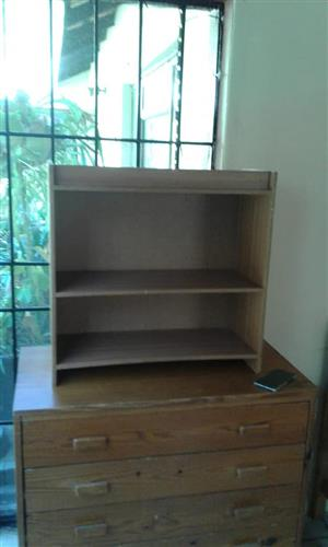 Wooden shelf and drawer for sale