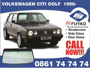 Windscreen for sale for VW Citi Golf 1996 with mirror boss clip #7480