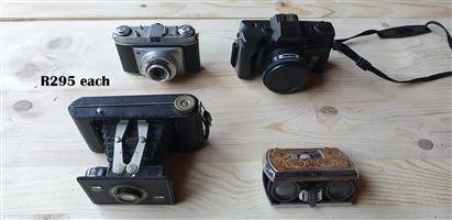 Vintage Camaras and Binoculars EACH R295