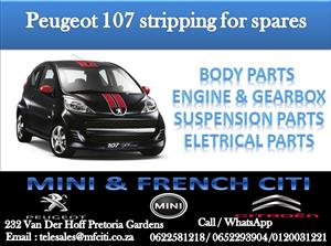 We at Mini & French we are currently stripping a Peugeot 107 for spare parts