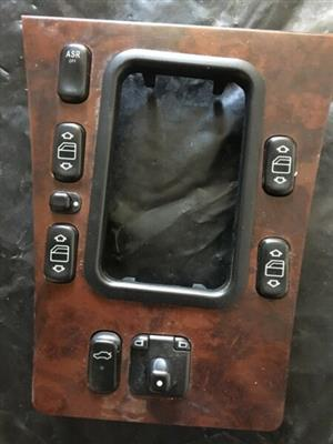 Mercedes-Benz w210 uncracked center console and switch bank