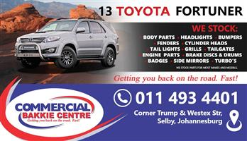 toyota fortuner 2005-2009 spare parts