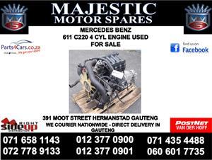 Mercedes benz C220 4 cylinder engine for sale