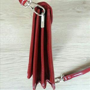 Red Zara handbag with detachable strap