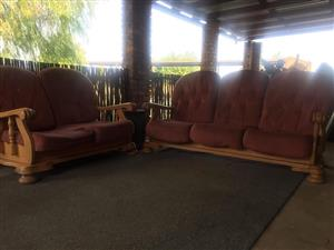 Maroon lounge suite for sale