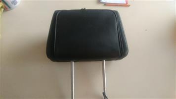 "2x Deaf Audio 7"" DVD Headrest (Black Leather) suitable for any car"