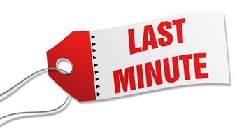 Last minute Getaways - Check in on Saturday 24 August 2019