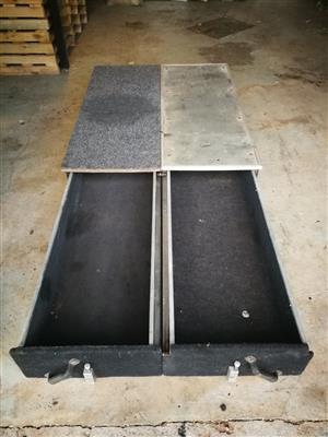 Sliding drawer system to swop