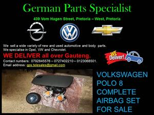 VOLKSWAGEN POLO 8 COMPLETE AIRBAG SET FOR SALE