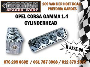 OPEL CORSA GAMMA 1.4 NEW CYLINDERHEAD - R 5175.00