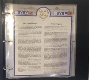 SAA 60 years of flight 45 signed FDC in original folder