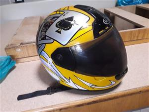 Yellow and black helmet