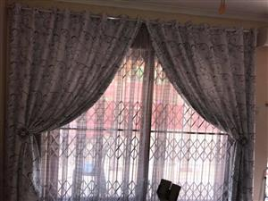 Grey sequence curtains for sale