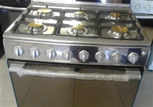 Stainless Steel 6 burner gas stoves with gas ovens