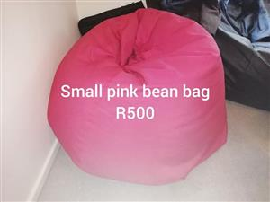 Small pink bean bag