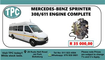 Mercedes-Benz Sprinter 308/611 Engine Complete - For Sale at TPC