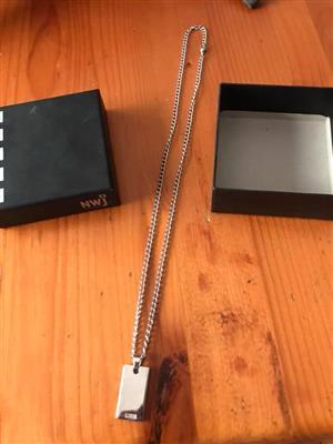 Original NWJ men's silver chain for sale