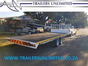 TRAILERS UNLIMITED 6000 X 2500 FLATBED TRAILER. 3500KG GVM.