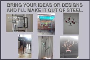 WALL,TABLE AND STAND DECORATIONS AND OTHER STEEL WORK