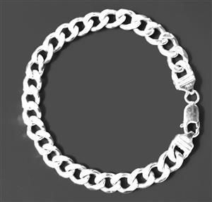 Gents Sterling Silver .925 curb link bracelet