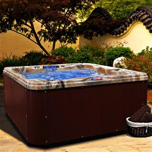 NEW Jacuzzi Bundle W/ Multi-LED! 6-Person Jetted Hot Tub & Outdoor Pool DayBed Spa
