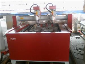 The ruijie 1118 with a 4th axis attachment is perfect for all flat and round jobs
