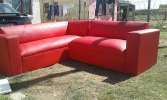 L shape leather couches