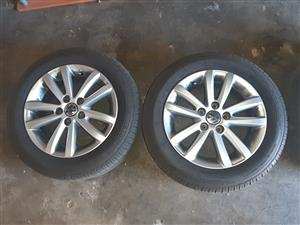 "14"" Inch OEM vw polo vivo rims with tyres for sale"
