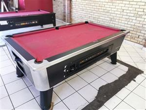 Coin Operated Pool Table + Accessories for sale.