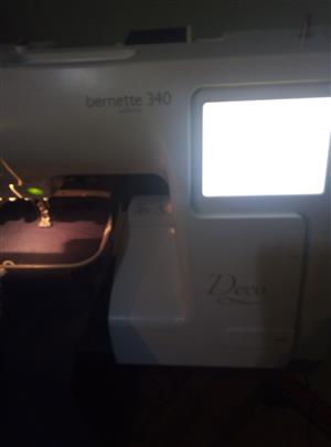 Bernina brenette sublime 340 USB compatible machine only has 21 hours worked on the machine and accessories.