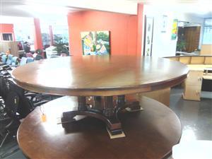Round veneer boardroom desk