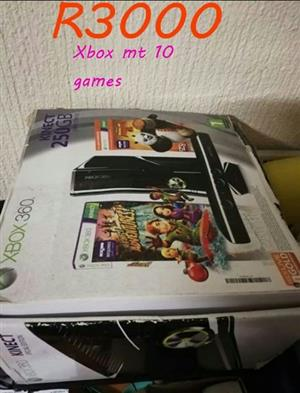 Xbox with 10 games for sale