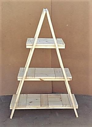 Trestle shelving A Frame Tree shape 3 tier 1670 - Raw