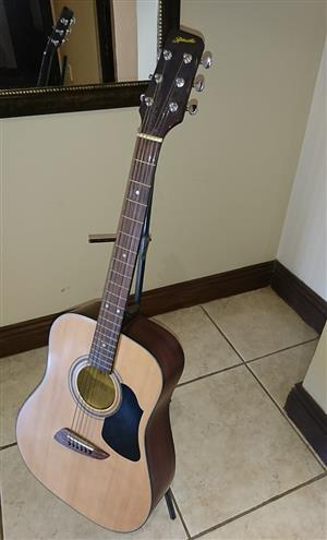 Guitar Ritmuller + Carry case and guitar stand