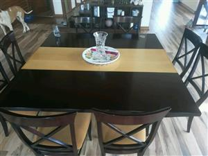 8 seater Beech and Mahogany solid wood table