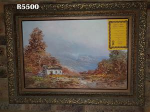 Original Johann Bonthuys Painting with Certificate of Authenticity (950 x 700)