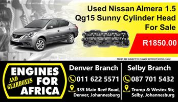 Used Nissan 1.5 Qg15 Cylinder Head For Sale