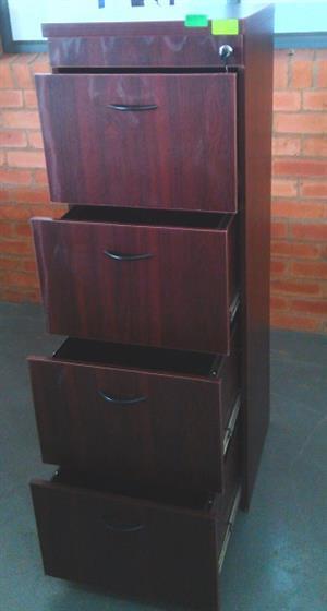 Alice mahogany 4drawer filling cabinet
