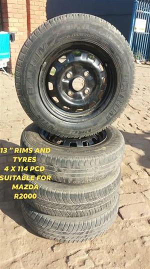 """13 """" Rims + Tyres"""