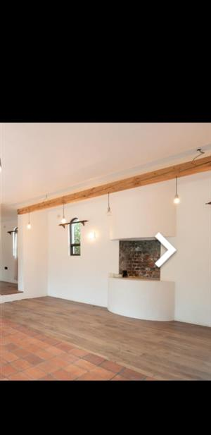 Solid Wooden Beam lights with exposed globes
