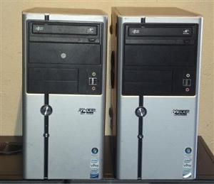 CORE 2 DUO AND QUAD CORE TOWERS WITH WARRANTY.