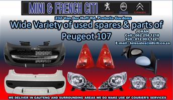 Peugeot 107 used Body parts on Big sale  Now