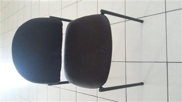 4 black chairs - office or home