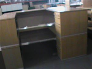 U shape desk plus pedestal and credenza