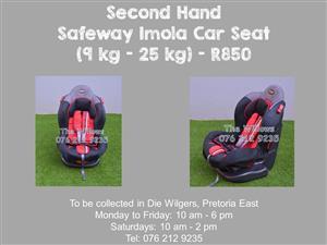 Second Hand Safeway Voyager Car Seat (9 kg - 25 kg)