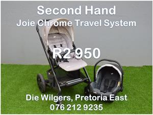 Second Hand Joie Chrome Travel System