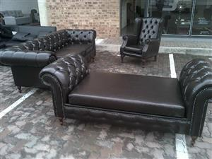 2-2-1 CHESTERFIELD SET AT AN AFFORDABLE PRICE,CHOOSE YOUR FABRIC AND COLOUR