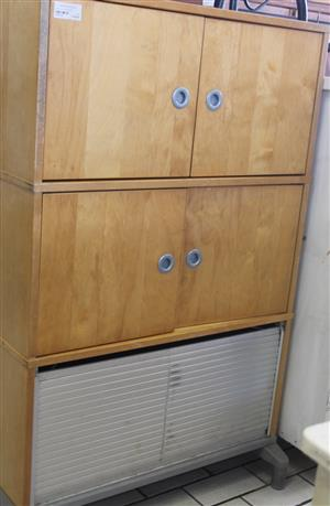 Oak 4 door cupboard S030714A #Rosettenvillepawnshop