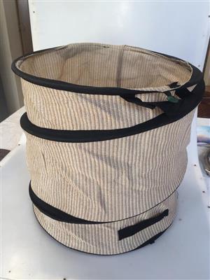 Collapsible Camping basket/storage bin/laundry basket
